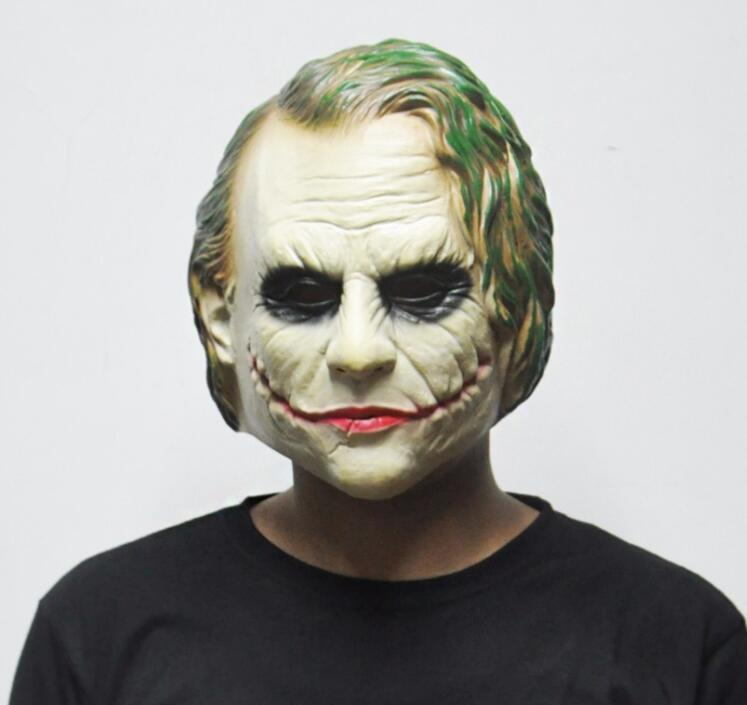 New Hot Joker Mask Batman Clown Costume Cosplay Movie Adult Party  Masquerade Rubber Latex Masks For Halloween Masquerade Costumes For Men  Masquerade ... 292a78a6e8