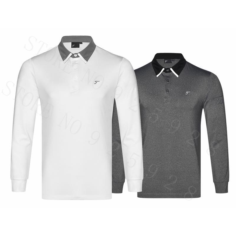 8ae8de10 Newest Golf shirts Autumn Long Sleeve Golf Apparel Men Sportswear Outdoor  Clothes Men S Polo Shirts Tops Black Red S~XXL Brand