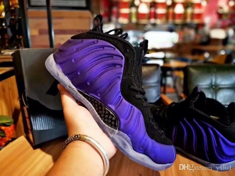 c9f89af7e85f5 2019 New Penny Hardaway Foams Eggplant Purple Copper Mens Sports Basketball  Shoes For Top Foam One Trainers Designer Sneakers Size 40 47 Cp3 Shoes Kids  ...