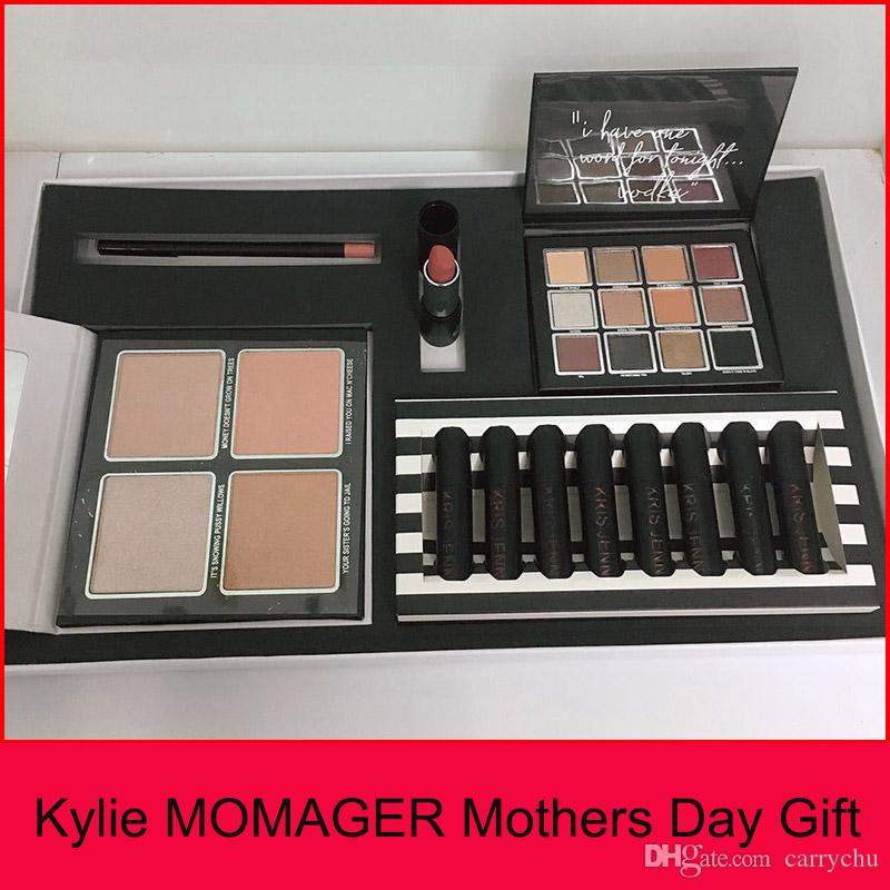 kylie momager makeup set momager lip collection lipgloss lipstick set eyeshadow highlighters mothers day gift free