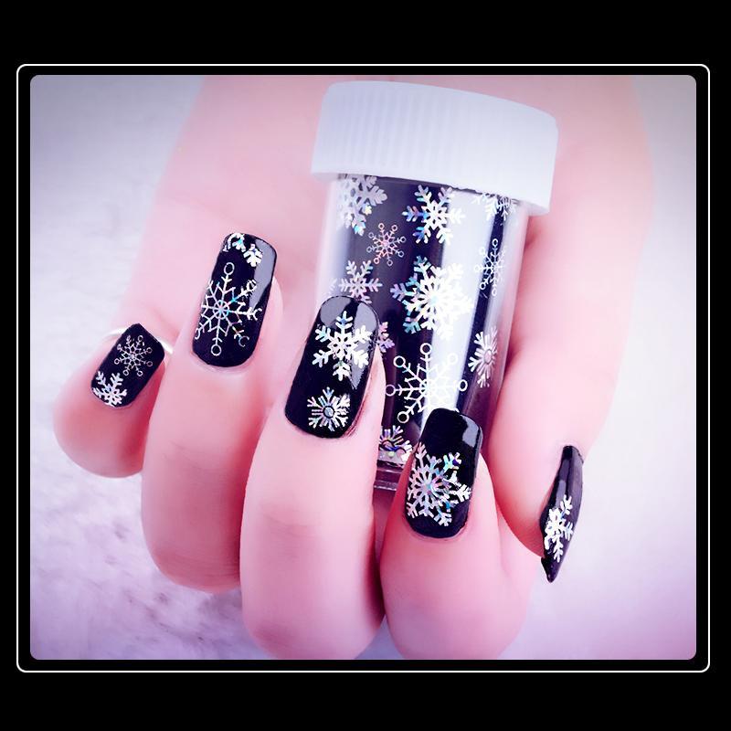 Colors Sliders Nail Design Snowflake Nail Foils Polish Starry