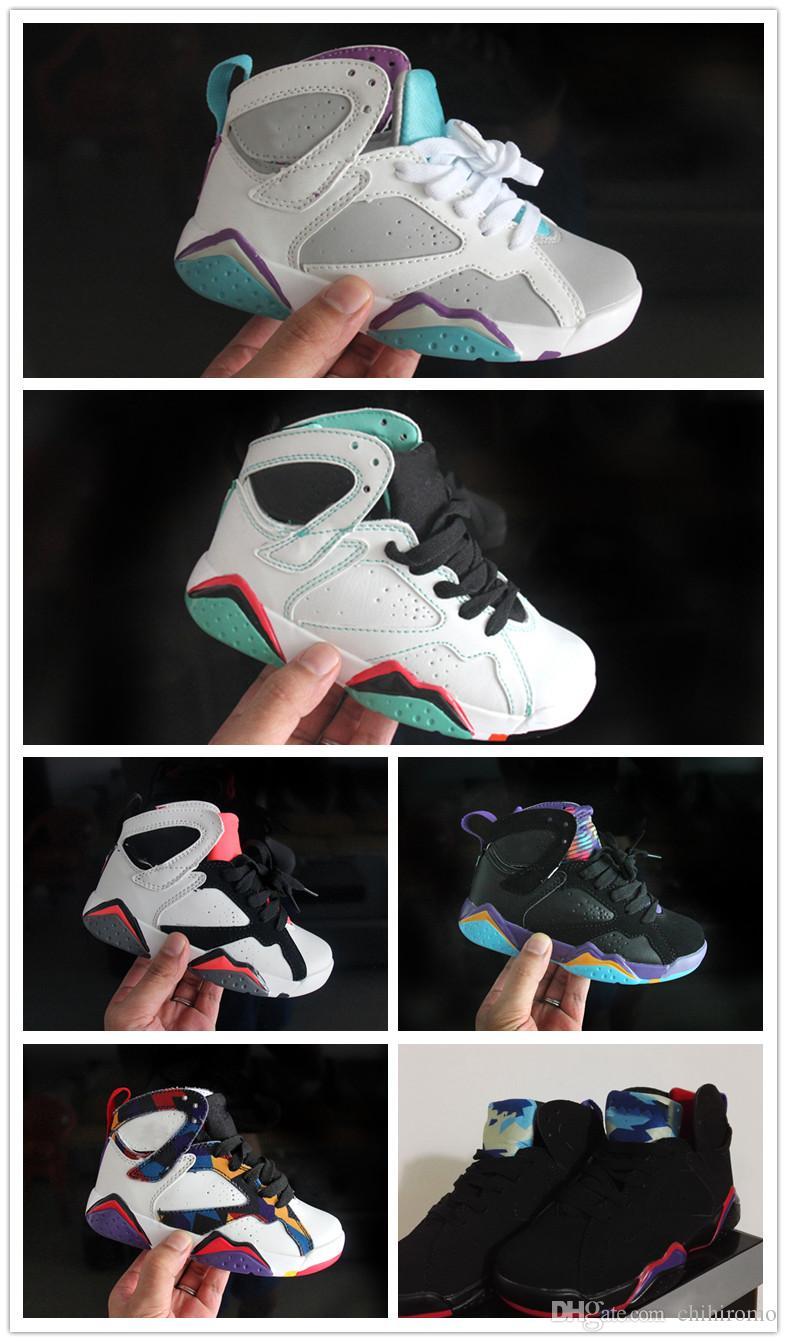 6ca19f74ae034a Acquista Nike Air Jordan Aj7 Bambini Economici 7 Scarpe Da Basket Giovanili  Bambina 7s Vii Viola Unc Bordeaux Olympic Panton N7 Zapatos Trainer Scarpe  ...