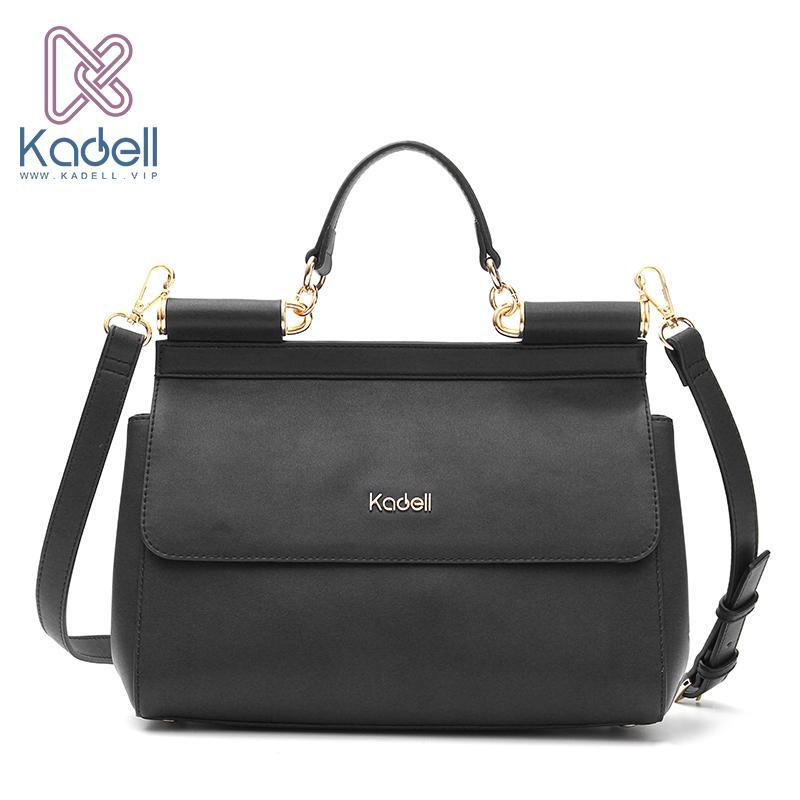 b281b18f8c2b Kadell Vintage High Quality Women Messenger Bags Handbag Doctor Bag Fashion  Brand Shoulder Women Leather Handbags Ladies Tote Black Handbag Purses  Wholesale ...