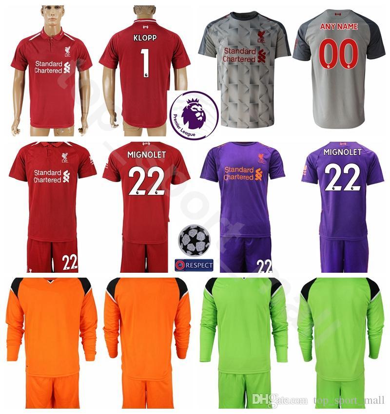 46a9e89508b ... coupon for 2018 2018 19 goalkeeper long sleeve alisson becker jersey  men soccer set 1 loris
