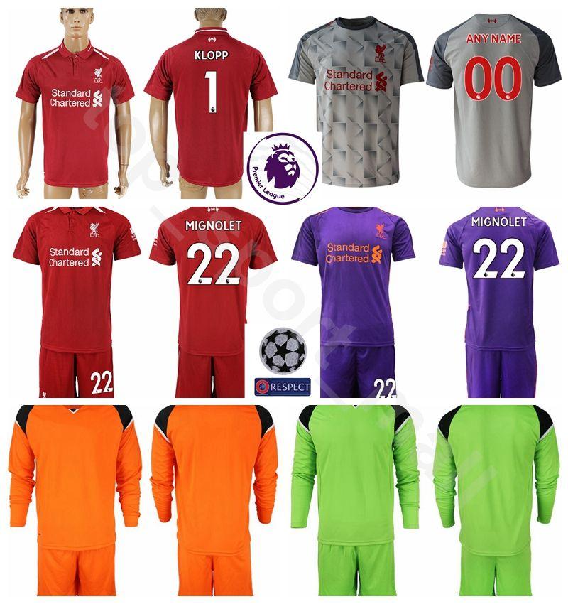 Compre 2018 19 Guarda Redes Manga Longa Alisson Becker Jersey Homens  Conjunto De Futebol 1 Loris Karius 22 Simon Mignolet Camisa De Futebol Kits  Uniforme ... 2f1104326f8a7