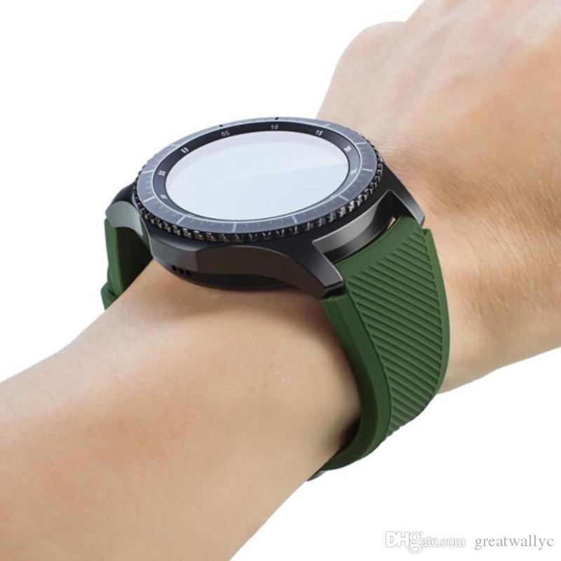 삼성 기어 S3 실리콘 손목 시계 22cm 시계 스포츠 팔찌 밴드 교체 스트랩 기어 S3 프론티어 클래식 시계 밴드