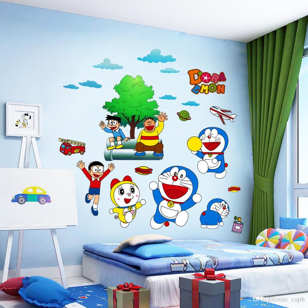 Acheter Mur Decor Mignon De Bande Dessinee Autocollants Enfants
