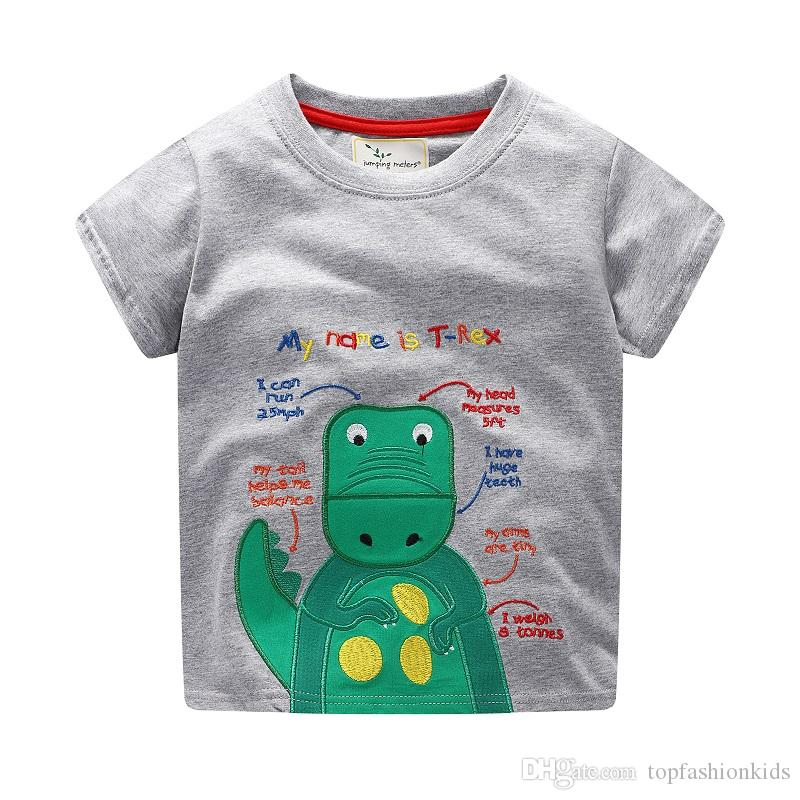 Boys Tops Summer 2018 Brand Children T shirts Boys Clothes INS Kids Tee Shirt Fille 100% Cotton Character Print Baby Boy Clothing