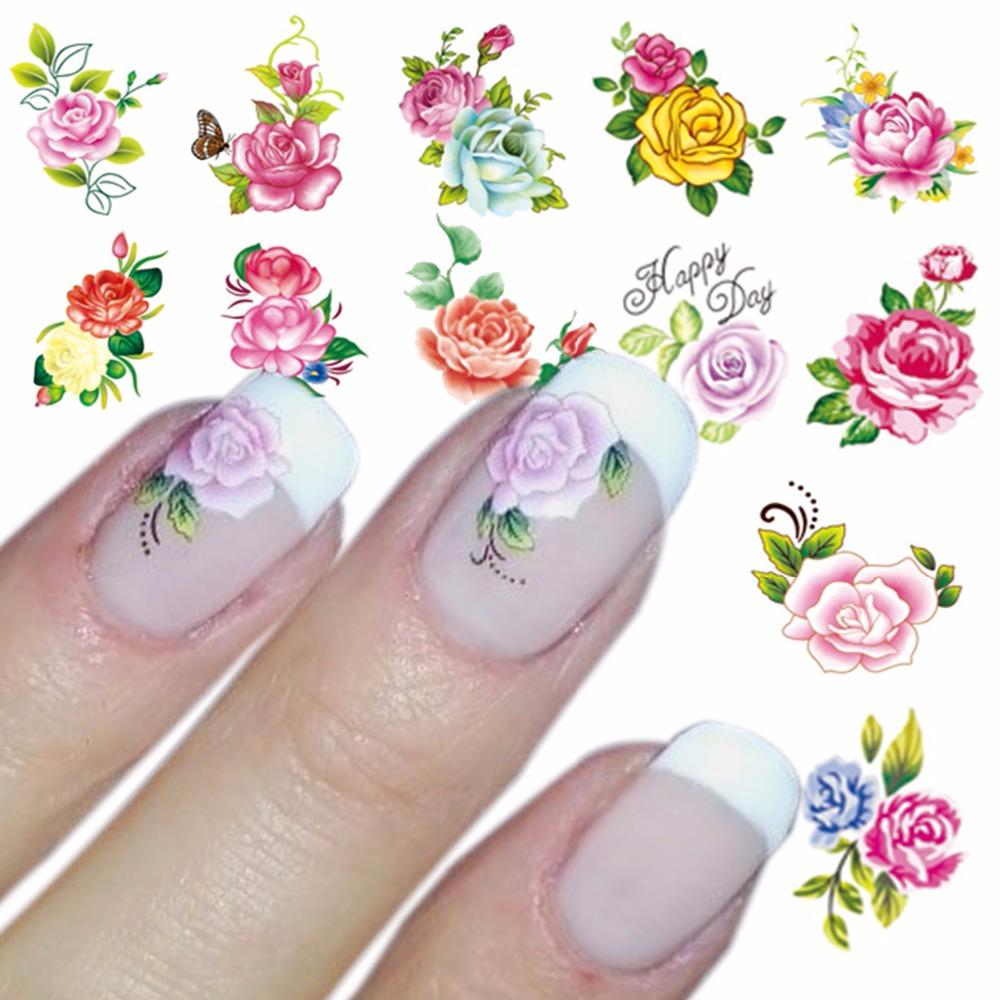 Wuf 1 Sheet Optional Water Decal Nail Art Water Transfer Gothic ...