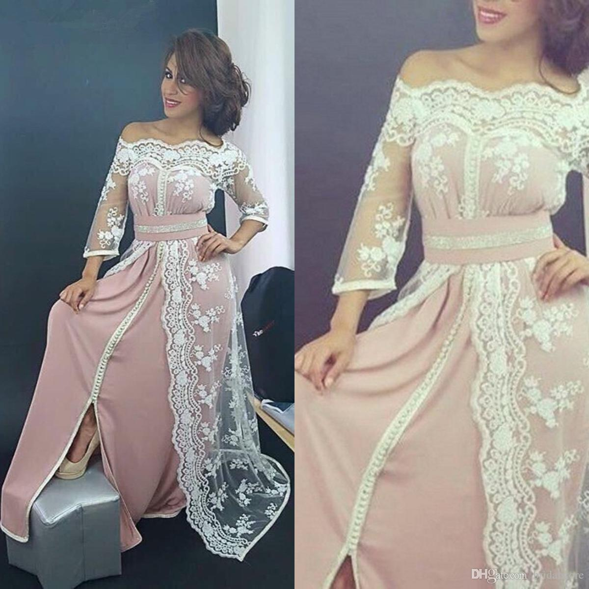 Traditional Saudi Arabia Caftan Evening Dresses Sleeve Sexy Off The  Shoulder Moroccan Prom Formal Gowns Fashion Style Dresses Evening Wear  1920s Evening ... 40b865ea4afa