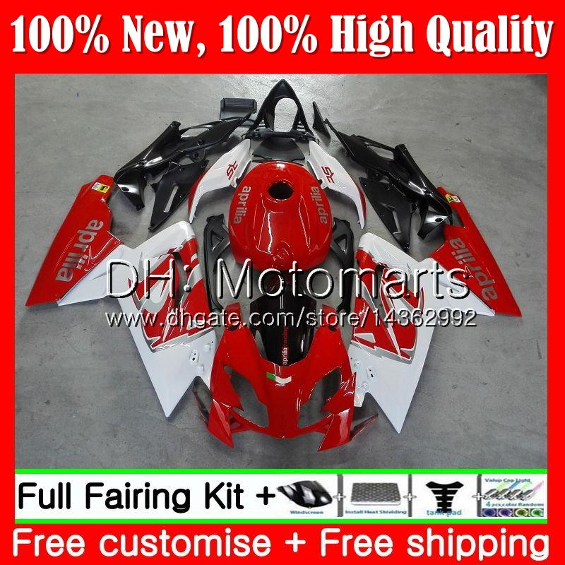 Injection For Aprilia RS4 RSV125 06 07 08 09 10 11 RS-125 0MT16 RS 125 R Red white RS125 2006 2007 2008 2009 2010 2011 Fairing Bodywork