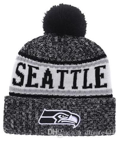 54928f411 Winter Seattle Beanie Sideline Cold Weather Black Sport Knit Hat Knitted  Wool Hat Adult Bonnet Warm Official Reverse Cap Graphite Beanie