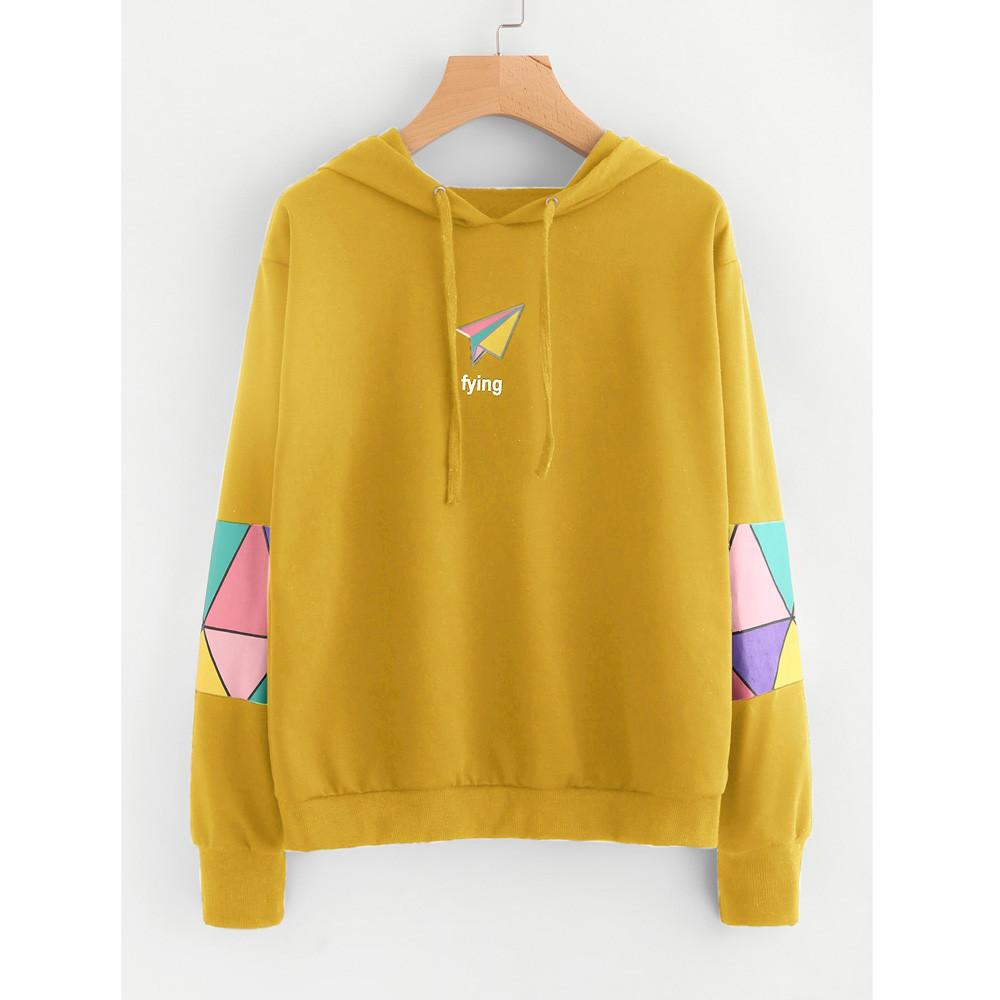 8fd6fb7a5 2019 US New Autumn Print Design Long Sleeve Women Casual Long Sleeve Hoodie  Sweatshirt Jumper Hooded Tracksuits Pullover Tops Blouse From Liasheng10,  ...
