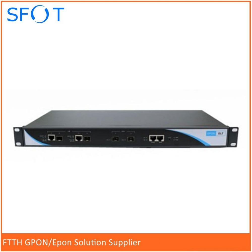 EPON GEPON OLT 2 PORTS suit for HUAWEI, ZTE, FiberHome ONU ONT free NMS  software