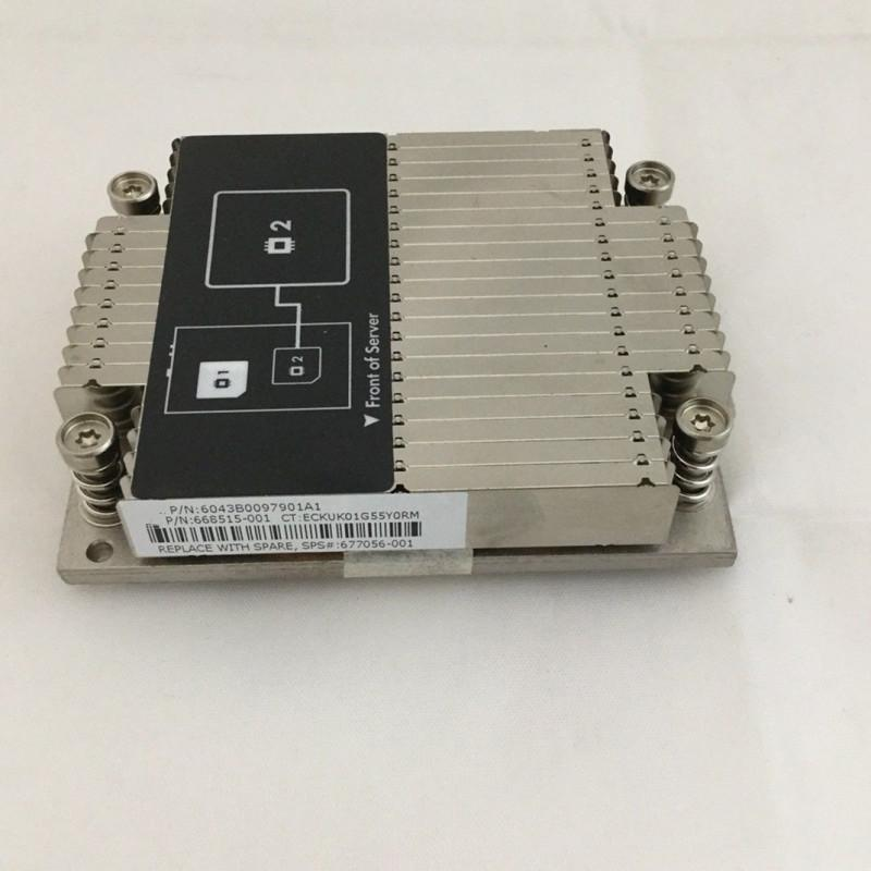 CPU Cooler 677056-001 DL160 GEN8 G8 SERVER HEATSINK 668515-001 HEATSINK for  Processor heat sink for Server CPU 2 668515-001