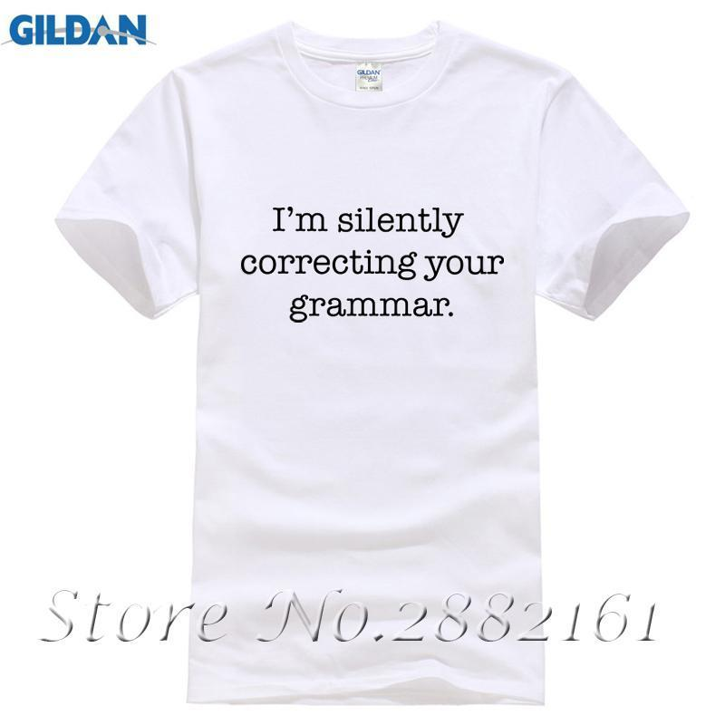 07e2bb48 I'M Silently Correcting Your Grammar Shirt Funny English T Shirt Mens 2016  Summer Short Sleeve Streetwear Tee HipHop O Neck Tops Deal With It T Shirt  Ts ...