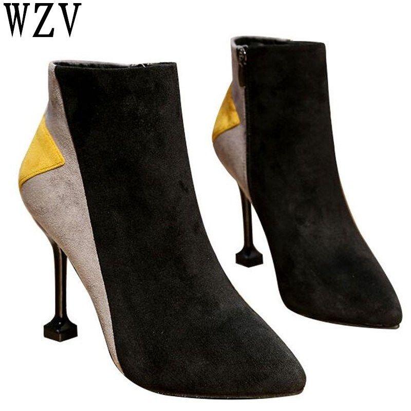 Fashion Glänzende Patent Spitzschuh Frauen Flache Schuhe