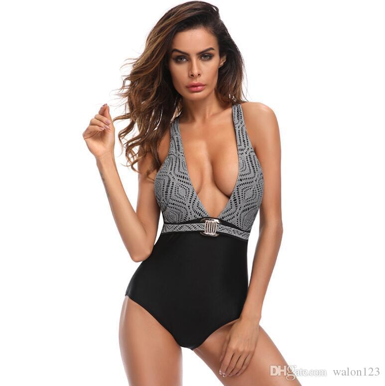 1fb026e0ee 2018 New Design Summer Sexy One Piece Suit Swimwear Women Bodysuit ...