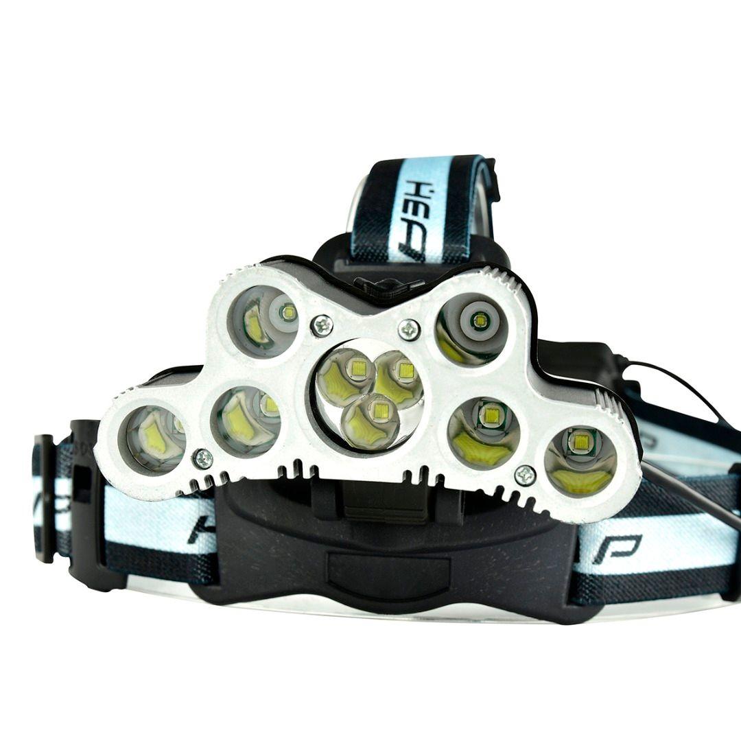 9 LED headlight super bright headlamp usb rechargeable head lamp CREE XML T6 18650 head torch high power led torch flash light