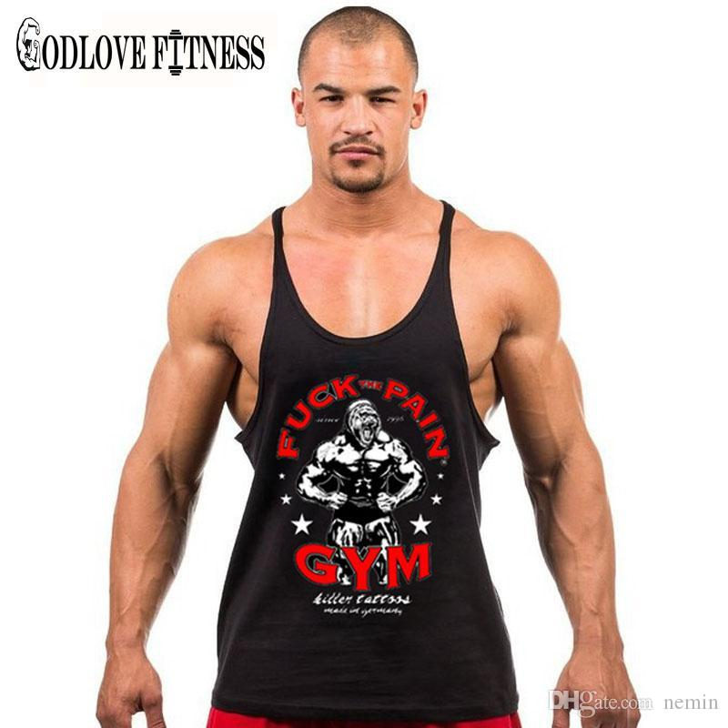 af57587b715ba 2019 Wholesale New Mens Bodybuilding Stringer Tank Tops Brand Clothing  Fitness Sportswear Muscle Crossfit Top Cotton Wicking Vest Shirt Men From  Nemin