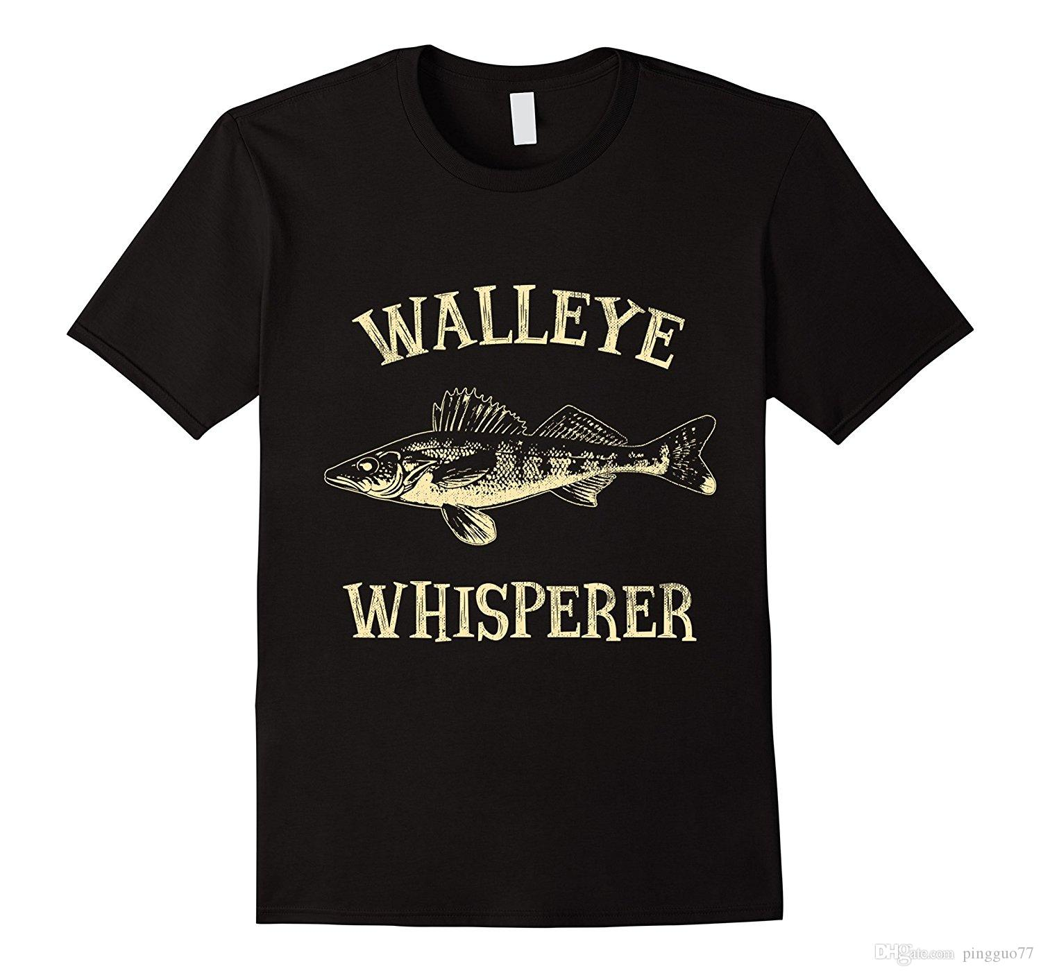 Grosshandel Walleye Whisperer Fisch T Shirt 3d Manner Hot Gunstige