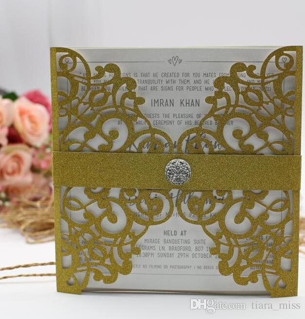 Wedding Invitation Cards New Arrival Personalized Laser Cut Flower Navy Blue Hollow Party Card Printable With Ribbon Envelope Invitations Online Birthday