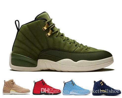 662382fe6ed8 Designer 12 Cheap Jumpman New 12s Men Basketball Shoes Bordeaux Dark Grey  Deep Royal White Blue Flu Game Playoffs High Taxi Sport Sneakers Youth  Basketball ...