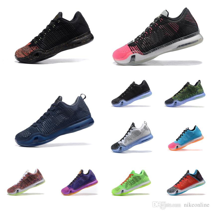 40e6bae38514 2019 Cheap Men What The Kobe 10 X Elite Low Basketball Shoes Christmas Gold  Red Black White HTM Purple BHM FTB KB Sneakers Boots Tennis For Sale From  ...