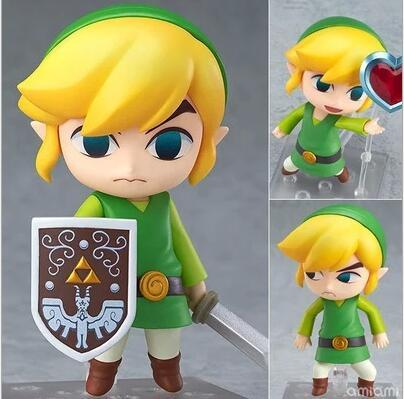 The Legend of Zelda Link Nendoroid Game Action Figures Anime PVC brinquedos Collection Model toys Free shipping