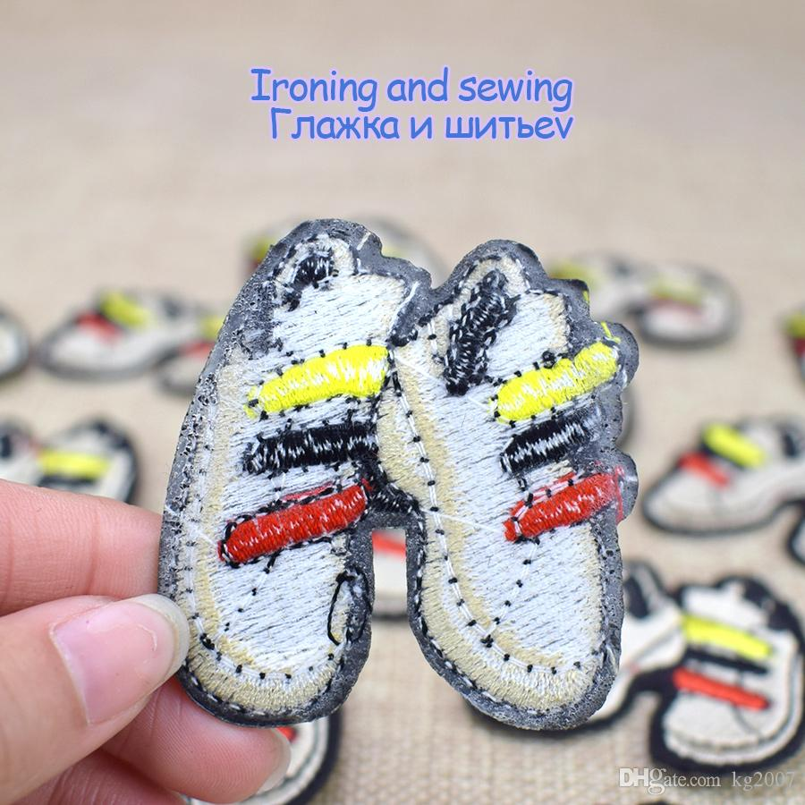Diy Shoe Fabrics Badges Patches for Clothing Cartoon Patch Cloth Sewing Embroidered Patches for Applique Iron on Jackets Garment Accessories