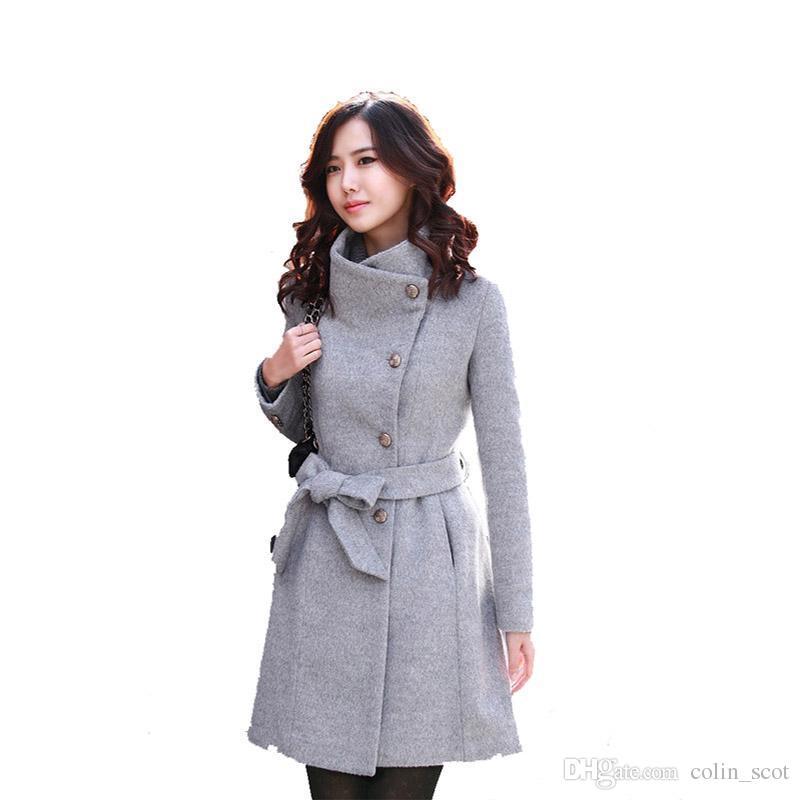 52e6838b834 Women Woolen Cotton Jacket Winter Warm Plus Sizes Coats for Ladies ...