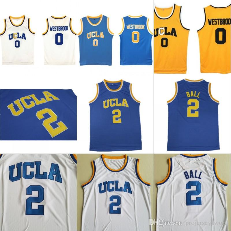 c678fa893 2018 Mens Ucla Bruins College Basketball Jerseys 0 Russell Westbrook 2  Lonzo Ball 42 Kevin Love 100% Stitched Basketball Jerseys From  Projerseysword