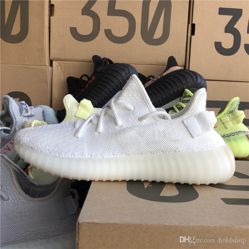93b0888f05edd 2019 Kanye West Runner 350 V2 Butter Sesame Static Beluga 2.0 Cream White Zebra  Bred Women Running Shoes Men Sneakers With Box Keychian Basketball Shoes  Men ...