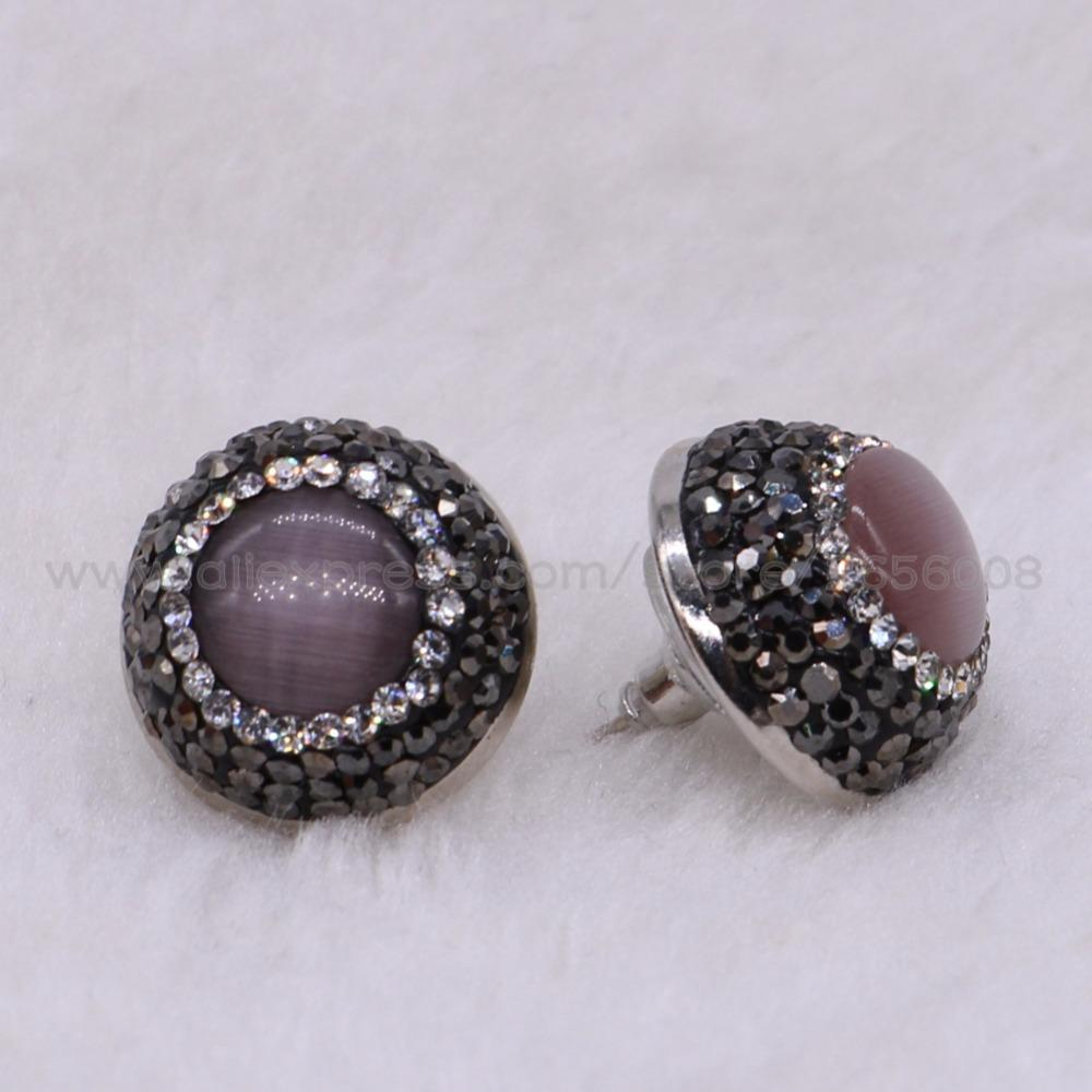 opal stud natural stone zs color women silver white sterling for stones item earrings fire