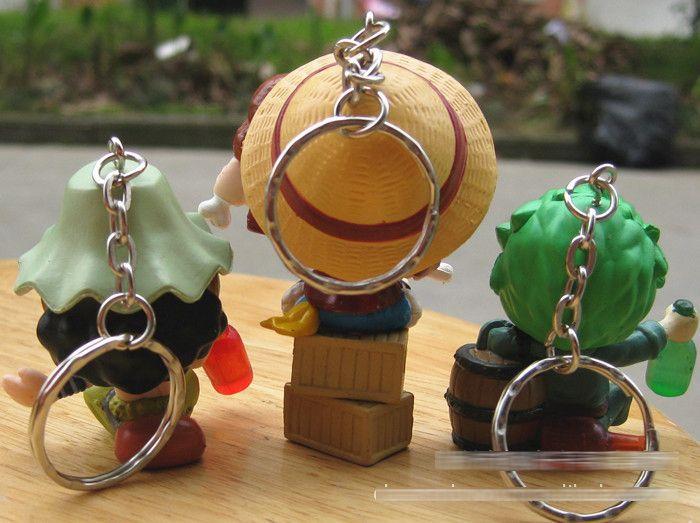 9 teile / satz Ein Stück Zoro Frank Ruffy Brook Chopper Robin Nami Sanji Anime Schlüsselbund Sammeln Action Figure PVC Sammlung spielzeug
