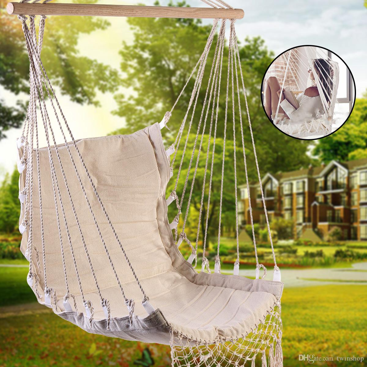 2018 Nordic Style Deluxe Hammock Outdoor Indoor Garden Dormitory Bedroom  Hanging Chair For Child Adult Swinging Single Safety Chair From Twinshop,  ...