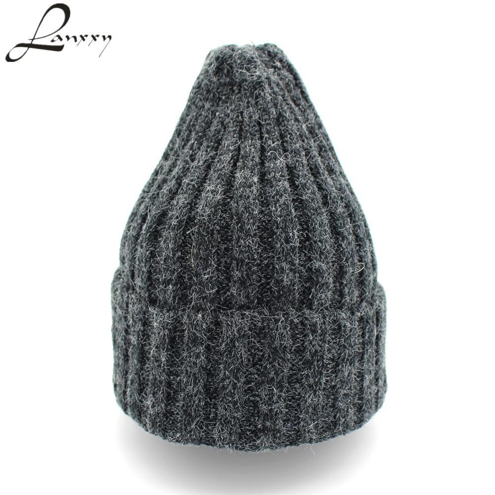456f5c851b1 Lanxxy Rabbit Fur Cotton Knitted Beanies Hats For Women Girls Winter Hat  Touca Skullies Hip Hop Cap Gorro Baseball Hats Winter Hat From Huteng