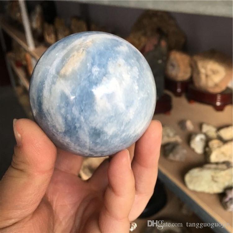 wholesale Natural Stone kyanite Angelite Sphere Crystal Globe Ball Chakra Healing Reiki Stone Carving Crafts Minerals