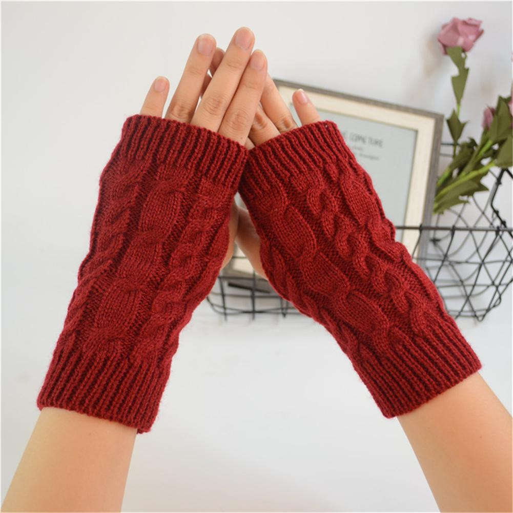 36123b122748 2019 YJSFG HOUSE Fashion Women s Gloves Woolen Knitted Long Twist ...