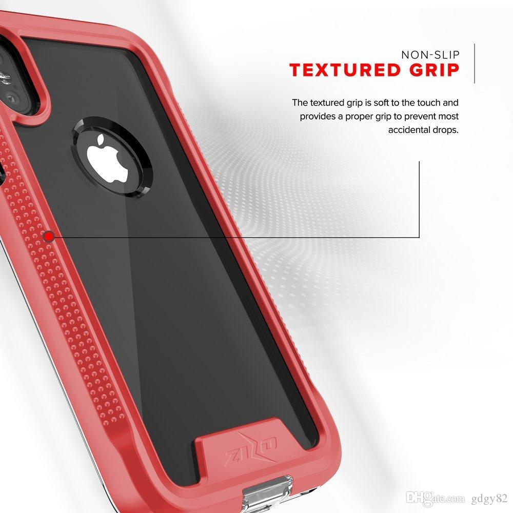 For iPhone X Case-[ION Series] [iPhone X Screen Protector]Transparent Clear[Military Grade Drop Tested]Three-tier protection case