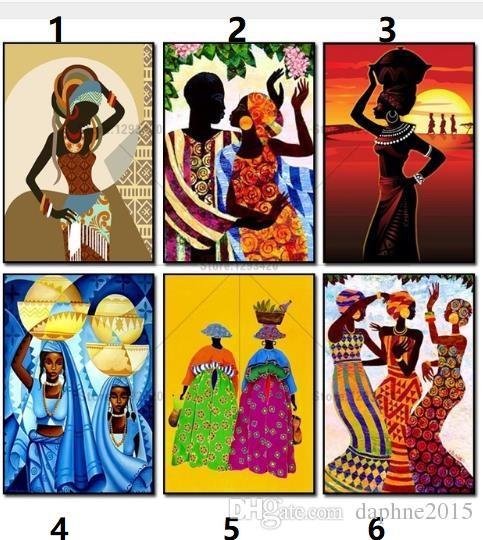 Satın Al Afrika Kadınlar Elmas Boyama Kitleri Duvar Sanatı Resim
