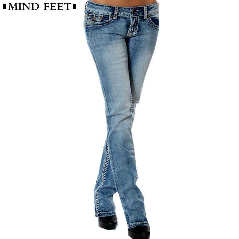 74146a7fa5310 2019 MIND FEET Women Jeans Femme Plus Size Slim Stretch Low Waist Female  Blue Vintage Straight Denim Pants Lift Hip Ladies Trousers D18111301 From  Shen8403