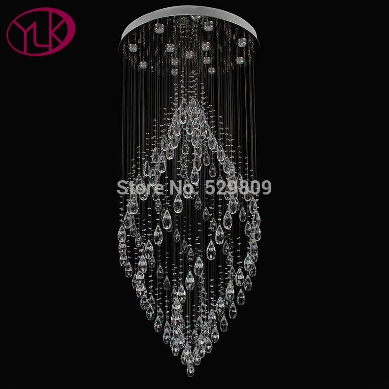 Youlaike Luxury Modern Crystal Chandelier Large Hallway Staircase Hanging Crystals Lighting Fixture Kitchen Chandeliers French From Goddard