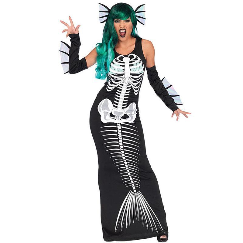 grosshandel damen halloween scary joker kostum teufel cosplay lange armelloses kleid fancy horror outfit fur frauen s l von mapnature 39 17 auf de dhgate