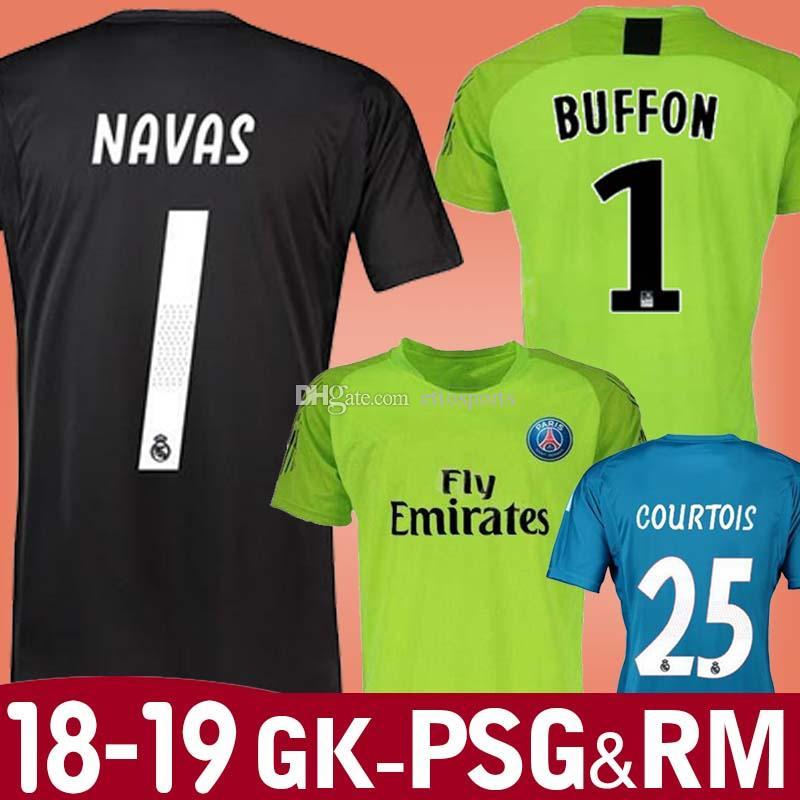 51da0c0c ... australia 2018 new 18 19 buffon psg goalkeeper soccer jerseys madrid  navas courtois trapp karius alisson ireland germany ...