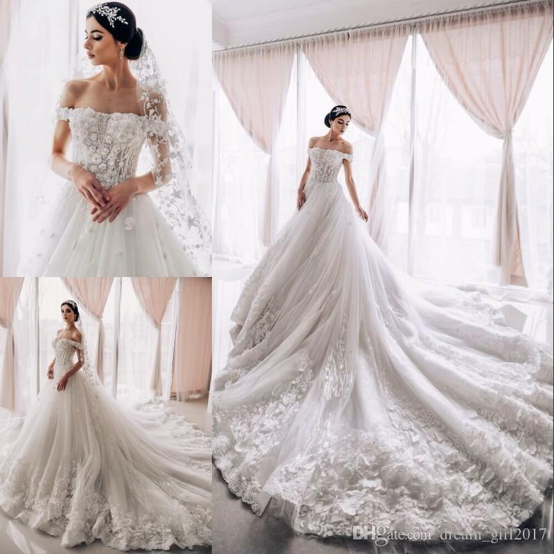 Discount Dreamy Enchantment Tulle Wedding Dress With 3D
