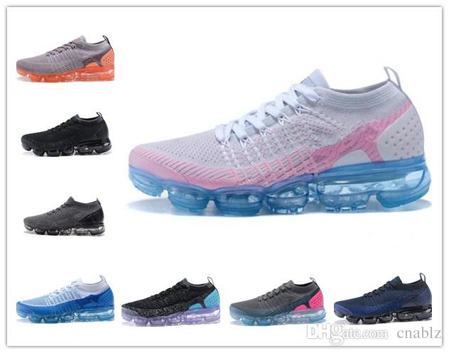2018 men women vapormax 2.0 Flagship Shoes white Black pink knitting trainers fashion designer sneakers vapormax v2 Casual shoes size 36-45 low cost cheap price outlet view buy cheap footaction FbRRgF