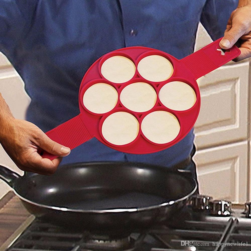 Silicone Nonstick Pancake Maker Egg Ring Maker Kitchen Perfect Pancakes Easy Flip Breakfast Omelette Tools Pancake Mold Egg Tool