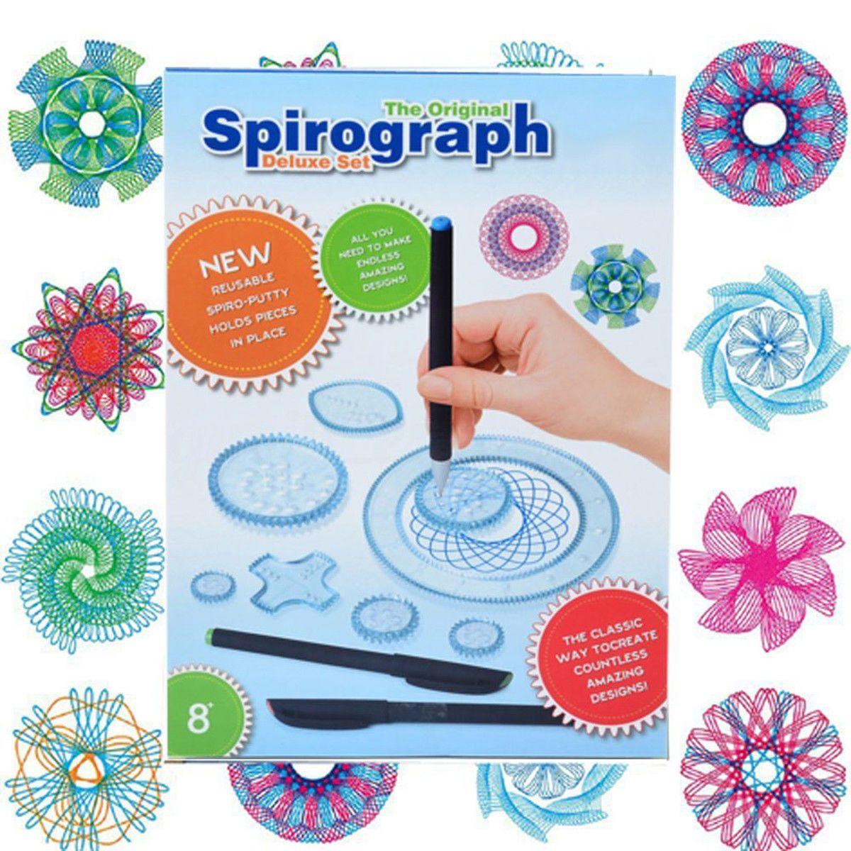 2019 Spirograph Diy Drawing Designs Magic Pen Geometric Ruler Tool