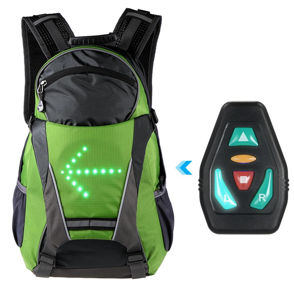 Lixada 18L Cycling Bags Bicycle Backpack LED Turn Signal Light Reflective  Bag Pack Outdoor Safety Night Riding Running Rucksack Pannier Rack Bike  Backpack ... 81686cb7ce29b